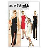BUTTERICK 4343/6 - Patrón de Costura para Confeccionar Vestido de Mujer (4 Modelos Diferentes, Tallas 32-38) [en inglés, alemán y francés]