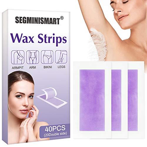 Wachsstreifen Haarentfernung, Kaltwachsstreifen, Haarentfernung für das Gesicht, Wachsstreifen Haarentfernung Set, Haarentfernung für den Körper, Gesicht, alle Hauttypen, Männer und Frauen, 40pcs