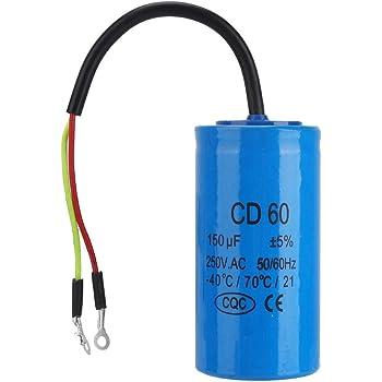 100/µF CD60 100-600/μF 2 fili Condensatore motore AC 450 V 50//60 Hz