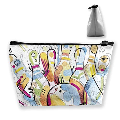 Multifunktions-Reisekosmetikbeutel - Farbe Bowling Trapez Make-up Organizer Toilettenartikel Armband Geldbörse