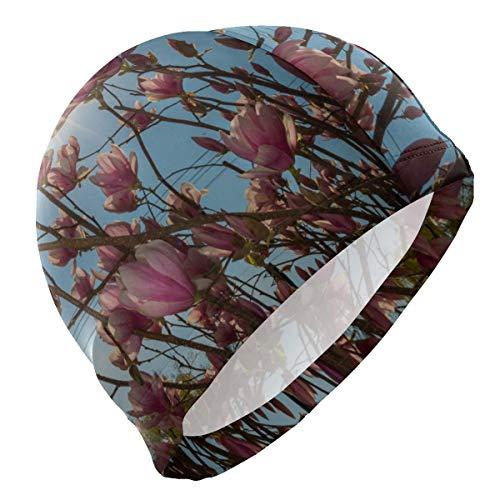 Gorro de baño Primavera Rosa Flor de Magnolia Gorro de baño para Hombre Niño Adulto Joven Adolescente Sombrero de natación Antideslizante