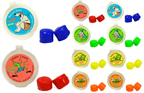 Putty Buddies Floating Earplugs 10-Pair Pack - Soft Silicone Ear Plugs for Swimming & Bathing - Invented by Physician - Keep Water Out - Premium Swimming Earplugs - Doctor Recommended (Assorted)