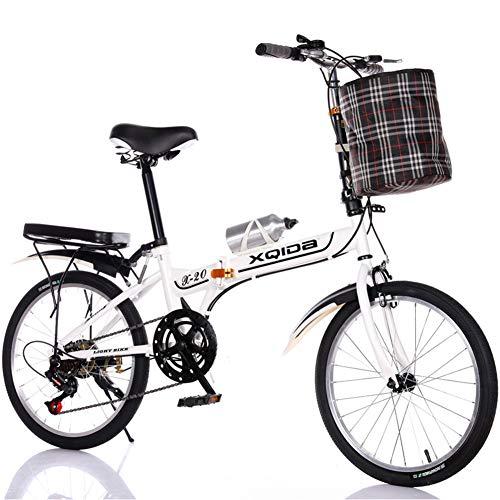 Inklapbare fiets met 20 inch voor single, voor heren en dames – rem voor kinderen – draagbare ring van aluminium kleine fiets
