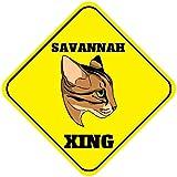Panneau fantaisie en aluminium avec motif chat de Savannah Xing Crossing 30,5 x 30,5 cm