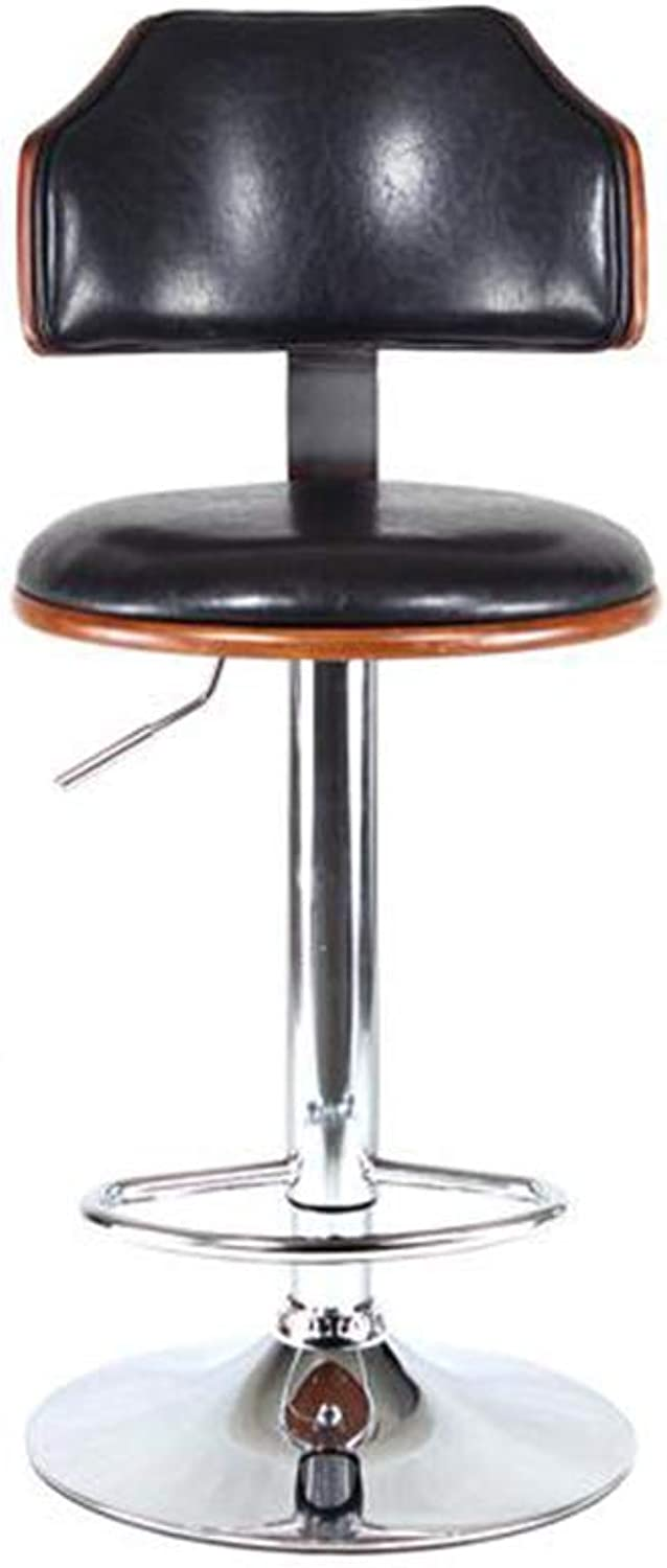 XUERUI Furniture Stool Bar Chair Seat Swivel Adjustable Height PU Covered Metal Chrome Base Gas Lift Strong Stability