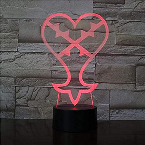 3D LED Light for Kids s Color Changes Creative Love Heart Couples Lamp for Chilren LED Atmosphere Sleep Light Table lamp Birthday and Holidayfor Children