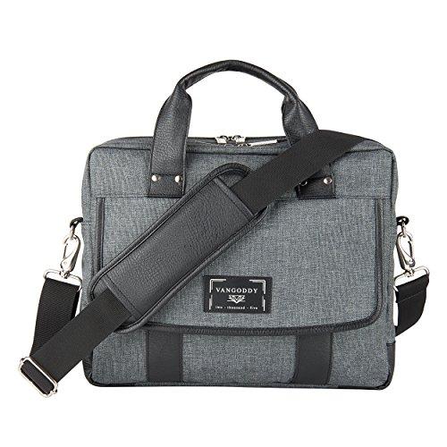 16 17.3 Inch Durable Twill Vegan Messenger Bag Laptop Crossbody Shoulder Bag Waterproof Carrying Handbag Briefcase for Laptop Ultrabook MacBook Chromebook HP Acer Asus Lenovo Dell Razer MSI
