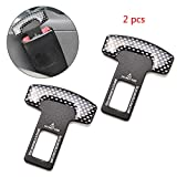 Careflection Carbon Fiber Car Seat Belt Alarm Beep Led Stopper Safety Buckle Null Insert Clip