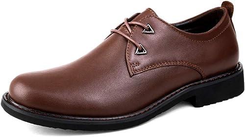 YJiaJu Chaussures pour Hommes d'affaires à Lacets Oxford Décontracté Décontracté Décontracté Simple Classique Cravate Ronde (Couleur   Marron, Taille   38 EU) 5af