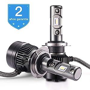 Bombilla H7 LED - 1 par, AUTLEAD para Coche Faros Delanteros, Luces Altas/Bajas, Luz Antiniebla, CSP 7200LM, 6500K Xenon Blancas, Kit de Conversión ...