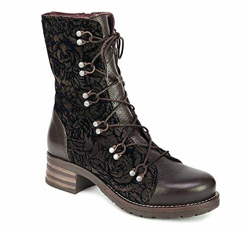 Brako Stiefel Boots TRAVIATA Charro Military Moka braun Leder Samt 8450 (38)