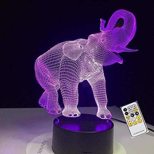 Luz nocturna 3D para niños, lámpara de ilusión 3D con 7 colores cambiantes y control remoto, regalo de cumpleaños para niños niñas de 6 5 4 años, regalo de Navidad