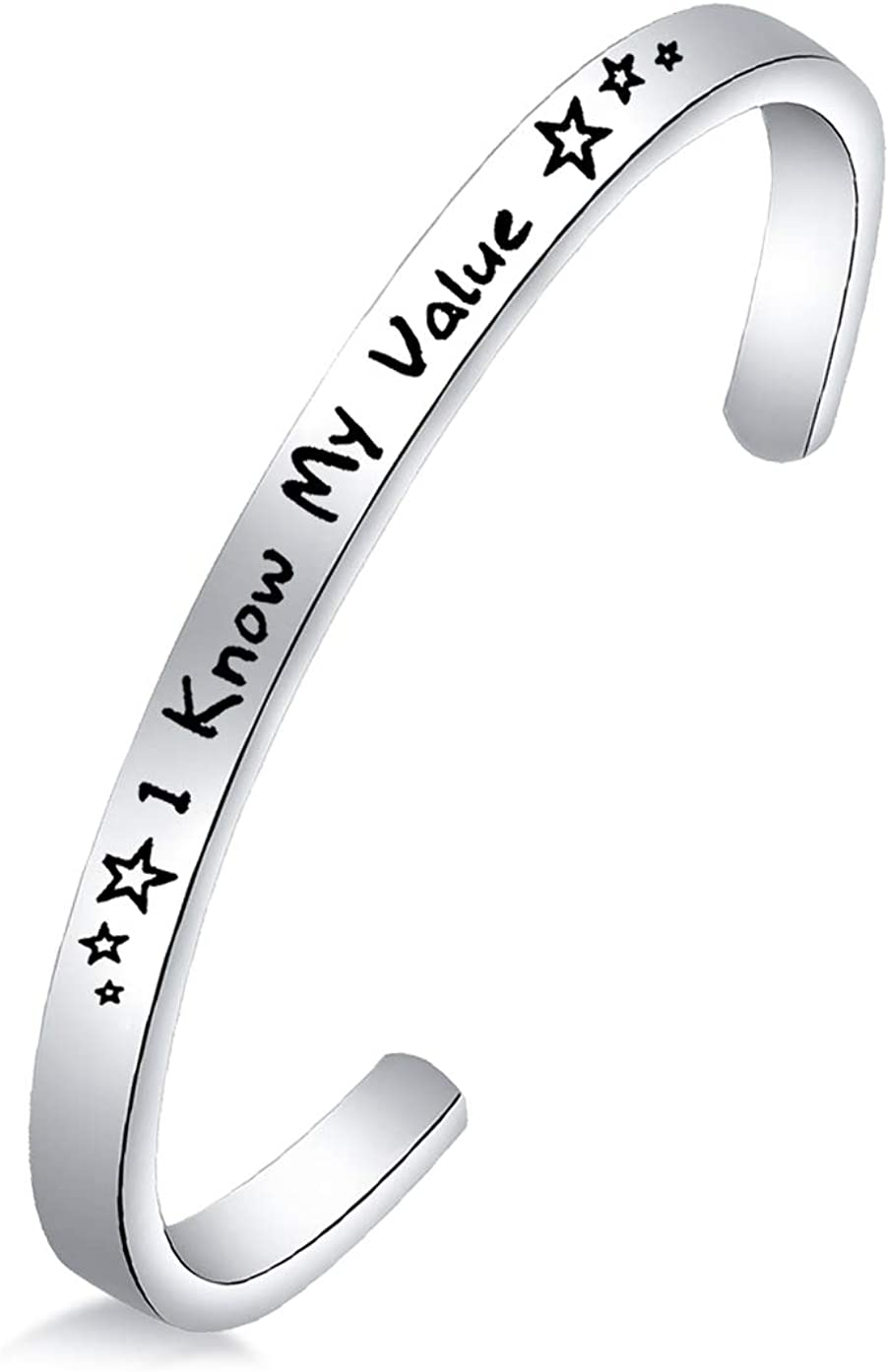 ENSIANTH Lowest price challenge I 2021 new Know My Value Cuff Jewelry Motivational For Bracelet