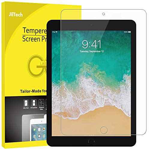 JETech Schutzfolie Kompatibel mit iPad Pro 12,9 (2015 & 2017 Modell), Gehärtetem Glas Bildschirmschutzfolie