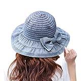 ZUMUii Butterme - Sombrero de Vestir - para Mujer, Azul Mari