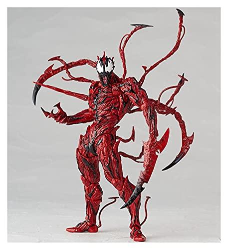 JSJJAUA Figura de acción Carnage de Veneno Rojo en la película Las increíbles articulaciones de Spiderman Modelo de acción Modelo de Juguetes muñeca (Color : No Retail Package)