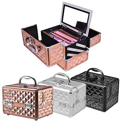 GOPLUS Kosmetikkoffer, Beauty Case, Schminkkoffer, Make up Box, Friseurkoffer, Kosmetikkoffer Reise,...