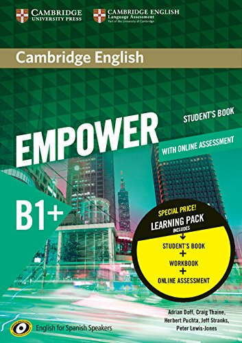 Cambridge English Empower for Spanish Speakers B1+ Learning Pack (Student's Book with Online Assessment and Practice and Workbook)
