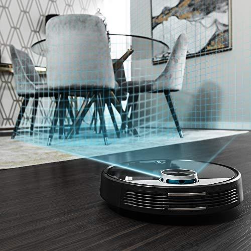 Cecotec Robot Aspirador Conga Serie 3290 Titanium. 2300 Pa, Gestión y Edición de Habitaciones, App con hasta 5 mapas, Aspira, Barre, Friega y Pasa la Mopa, Alexa y Google Home