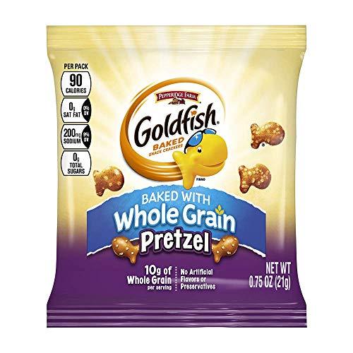 Pepperidge Farm Goldfish Whole Grain Snack Crackers, Pretzel, .75 Ounces, Pack of 300