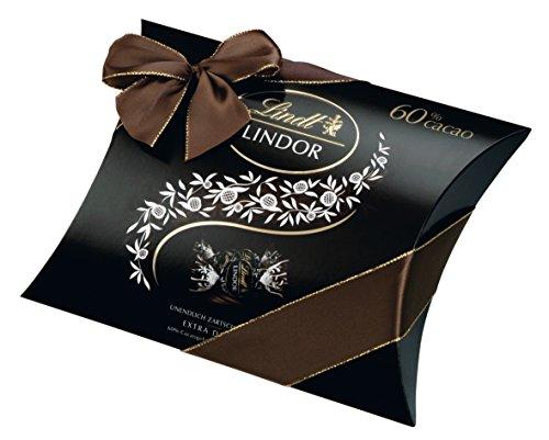 Lindt Lindor Kissenpackung 60% Cacao, Extra Dunkel, (322 g)