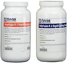 Polytek PolyFoam R-2 Rigid Casting Foam 2.5 lb/ft3 (4lb Kit)