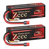 Zeee Premium Series 3S Lipo Battery 11.1V 100C 5200mAh Hard Case Battery with Deans T Connector for RC Car Boat Truck Helicopter Airplane Racing Models(2 Pack)