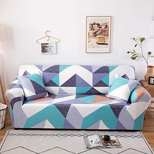 Funda de sofá elástica Universal para Sala de Estar, Toalla de sofá, Funda de sofá Antideslizante a Prueba de Polvo, Funda de sofá elástica A17 de 3 plazas