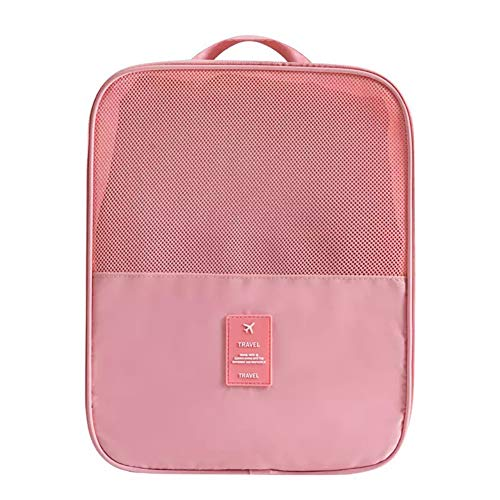 Godob Twill Mesh Viaggio Scarpa Storage Bag Grande Capacità Traspirante Portatile Scarpe Borsa Adatto Per Qualsiasi Scarpe