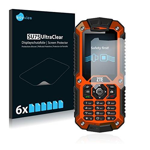Savvies 6X Schutzfolie kompatibel mit ZTE R28 Displayschutz-Folie Ultra-transparent
