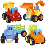 CifToys Friction Powered Cars - Push and Go Toys Car Construction Vehicles Toys for Age 18 Month 2 3...