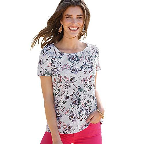 VENCA Camiseta Estampada Mujer by Vencastyle - 027578,Gris VIGORÉ,XS