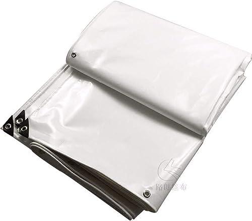 GTREW-tarpaulin Bache épaisse De Bache De Prougeection UV De Bache De Tente De Pluie Toile Blanche Couteau De PVC De Prougeection Solaire Imperméable Grattant Le Tissu Tissu De Hangar De Voiture