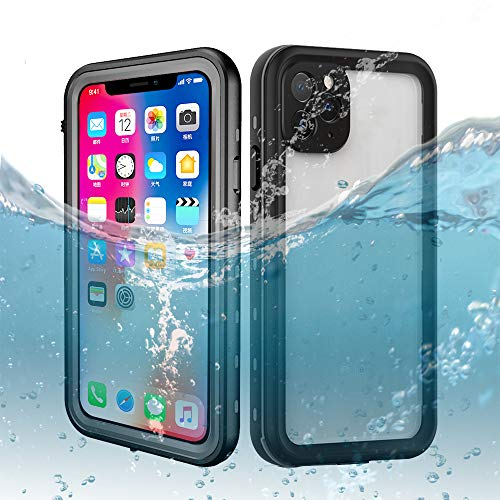 iPhone 11 Pro Waterproof Case 5.8 Inch, Dooge IP68 Shockproof/Dirtproof/Snowproof Full-Sealed Full-Body Heavy Duty Protective Case Built-in Screen Protector for iPhone 11 Pro (5.8inch)