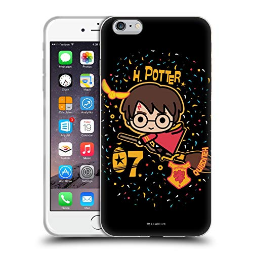 Head Case Designs Ufficiale Harry Potter Quidditch Scopa Deathly Hallows I Cover in Morbido Gel Compatibile con Apple iPhone 6 Plus/iPhone 6s Plus