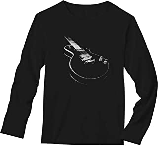 Gift for Guitarist - Cool Musician Electric Guitar Printed Long Sleeve T-Shirt