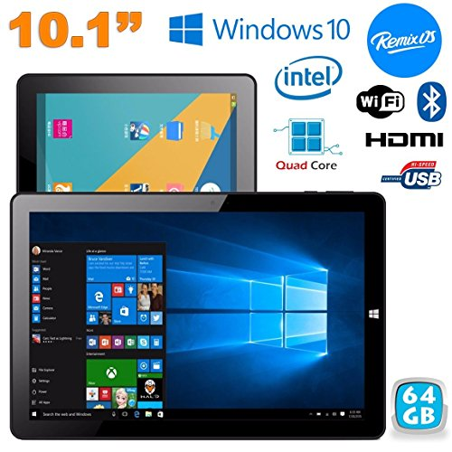 Tablet Windows 10 + Remix OS 2.0 Dual Boot 4 GB RAM 10.1 pollici 64 GB