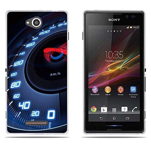 DIKAS Sony Xperia C/S39H/C2305 Hülle, Transparente Silikon TPU Fashion Kreatives Design Anti-Scratch Silikon Slim Fit Shockproof Flexibel für Sony Xperia C/S39H/C2305 - Pic: 16