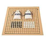 Uso EstáNdar De Ajedrez para Match 19 Line 361pcs Chessman Go DiáMetro del Juego De Ajedrez 2.2cm Bolsa De Tela De Tablero De Ajedrez De Cuero Weiqi Toy Juego Antiguo Chino