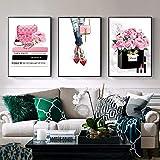 nobrand Leinwandbilder Mode Mädchen Wandkunst Home Decor