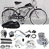Ambienceo 2 tempi 50cc bicicletta motore a benzina motorizzato motor bike kit argento(Con regalo casuale)
