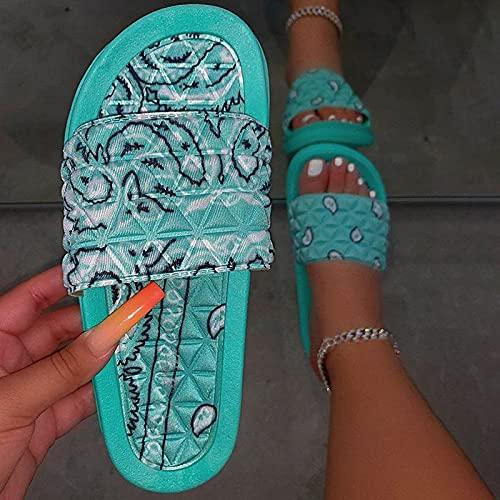 Zapatillas Casa Chanclas Sandalias Cómodas Zapatillas De Bandana Para Mujer, Diapositivas Para Interiores Y Exteriores, Zapatillas Para El Hogar, Zapatos Para El Hogar, Zapatillas Suaves Antidesl