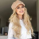 AISI HAIR Long Blonde Wavy Wigs for Women Middle Part Ombre Blonde Long Curly Wigs Natural Looking Synthetic Heat Resistant Fiber Wig for Daily