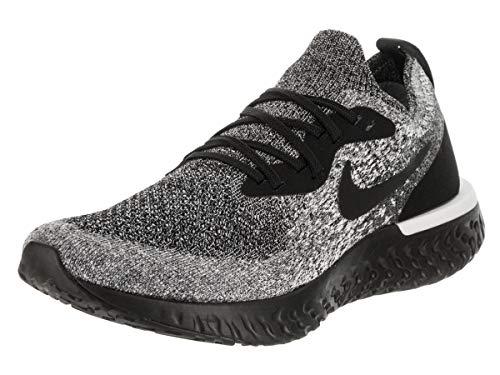 Nike Women's Epic React Flyknit Running Shoe (8.5 M US, Black/Black/Dark Grey/Pure Platinum)