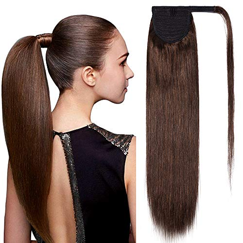 TESS Pferdeschwanz Extensions Echthaar Ponytail Haarteil Clip in Extensions Echthaar Zopf Remy Haarverlängerung günstig 14