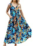 YESNO Women Casual Long Floral Printed Beach Party Maxi...