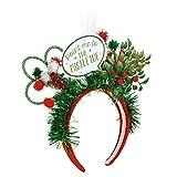 Point Me to Mistletoe LED Light Up Adult's One Size Polyester Christmas Fashion Headband