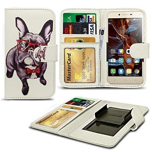 N4U Online® Verschiedene Muster Clip Serie Kunstleder Brieftasche Hülle für Allview E3 Living - H&