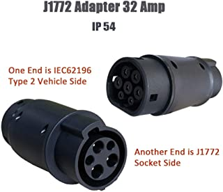 KHONS EV Charger Connector Type 1 to Type 2 Adapter Electric Vehicle Charging Adapter (SAE j1772 to IEC62196)