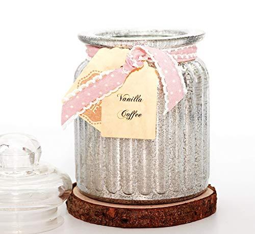 Lilygardencandles Duftkerze Kaffee Vanille im Antique Jar / 100% Sojawachs / 52+ Stunden Brennzeit/EIN süßer Kaffeeduft